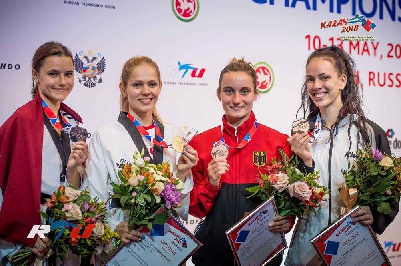 Студентки смоленского училища завоевали медали на Чемпионате Европы по тхэквондо