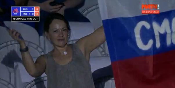 Смолянка «засветилась» на матче Россия – Польша