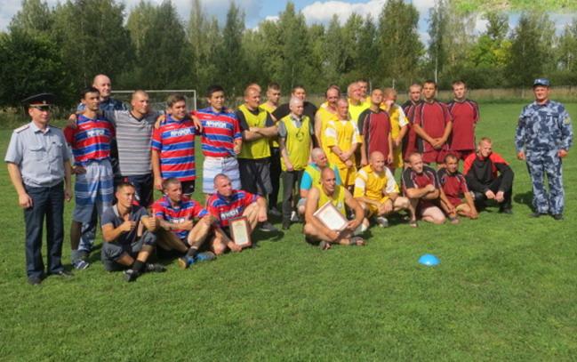 Смоленские осужденные приняли участие в соревнованиях по футболу