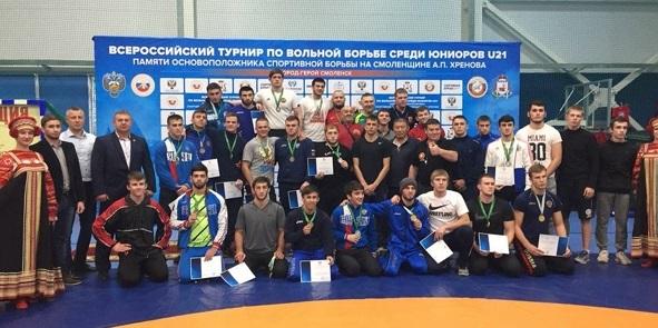 В Смоленске прошли всероссийские турниры по вольной борьбе