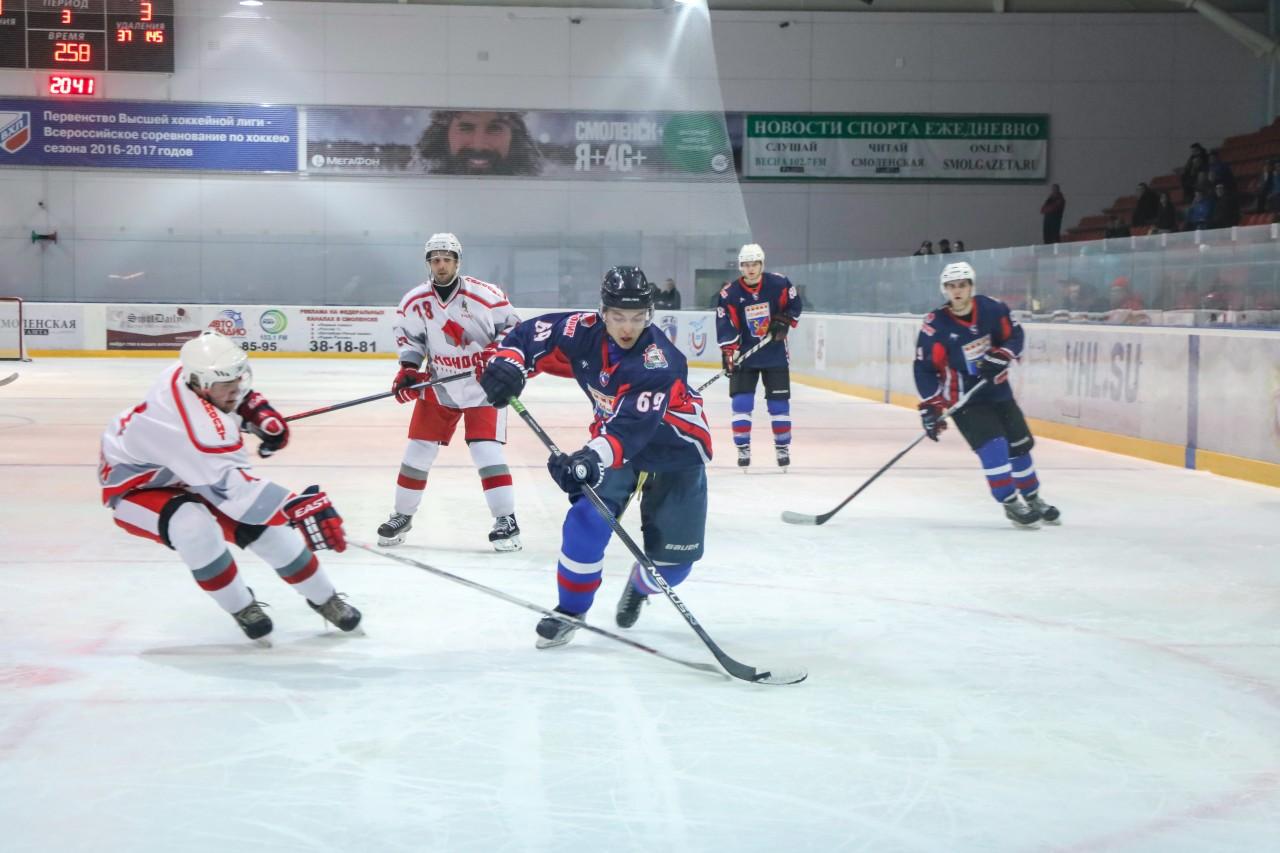 Федерация хоккея Смоленской области приглашает болельщиков на полуфинал чемпионата области по хоккею