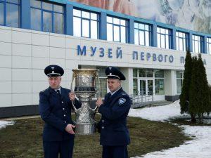 В смоленский музей Гагарина привезли кубок КХЛ
