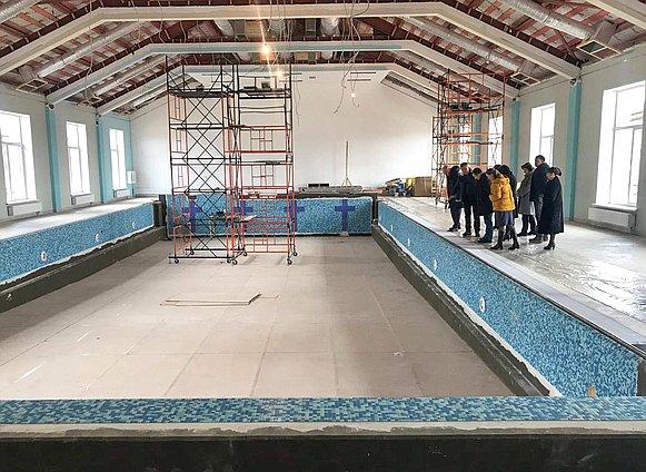 Бассейн в смоленской школе «Феникс» может появиться уже к середине мая
