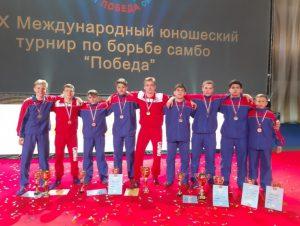 Самбисты из Смоленска вошли в тройку лучших на международном юношеском турнире «Победа»