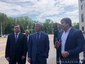 Министр спорта России Павел Колобков и губернатор Алексей Островский посетили ряд спортивных объектов Смоленска