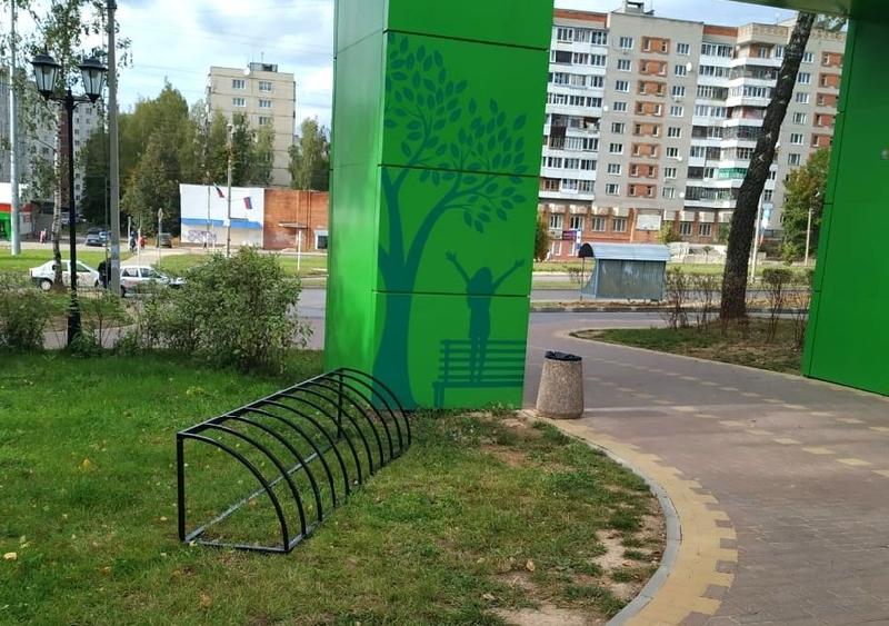 В Соловьиной роще готовятся к установке велопарковок