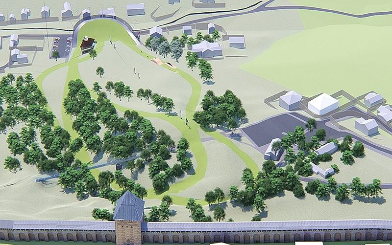 Дизайнеры предлагают сделать вело-горнолыжную трассу у Смоленской крепостной стены