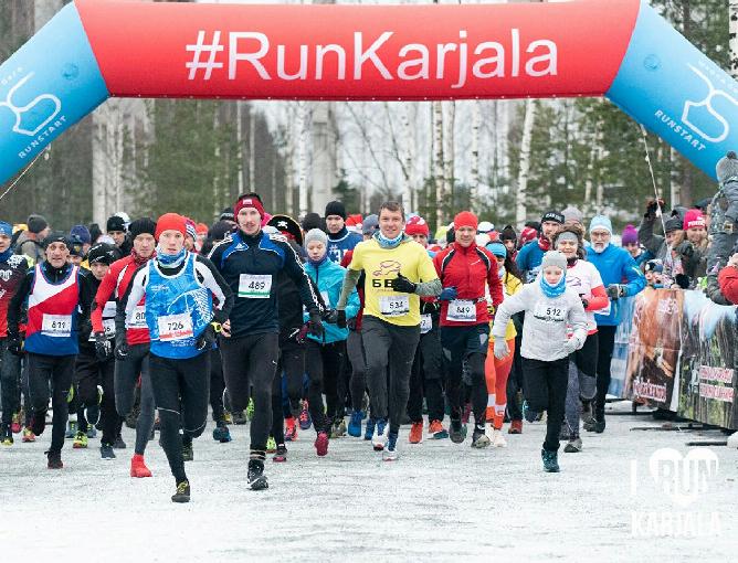 Атомщик-марафонец покорил забег в вотчине карельского Деда Мороза