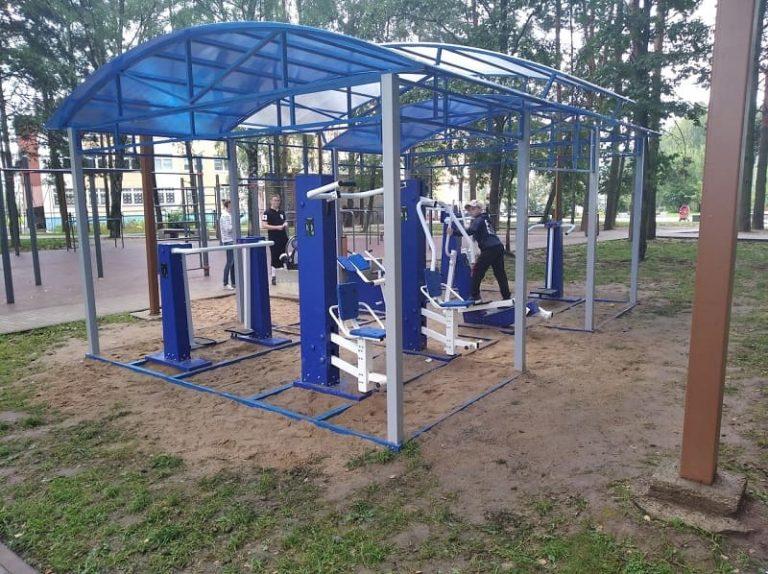 В Смоленске появилась новая спортплощадка на открытом воздухе