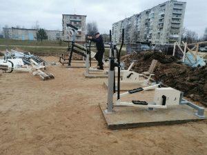 В смоленском поселке оборудуют спортплощадку