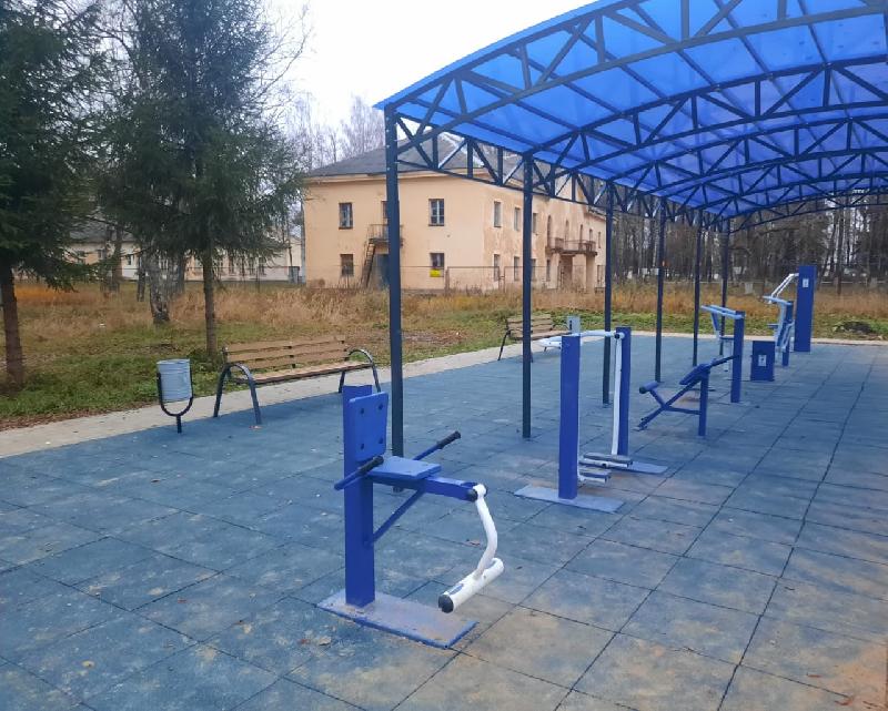 В Смоленской области в военном поселке установили уличные тренажеры