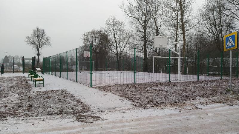 В смоленской деревне открыли спортплощадку