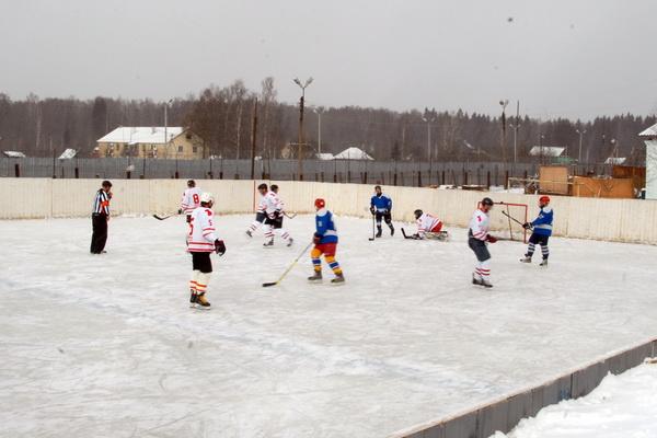 Смоленские хоккеисты провели матч в колонии