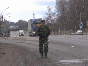 Смолянин начал патриотический марш-бросок из областного центра до Гагарина