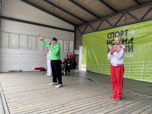 Первую в Смоленске «Зарядку с ветеранами» провела Олимпийская чемпионка
