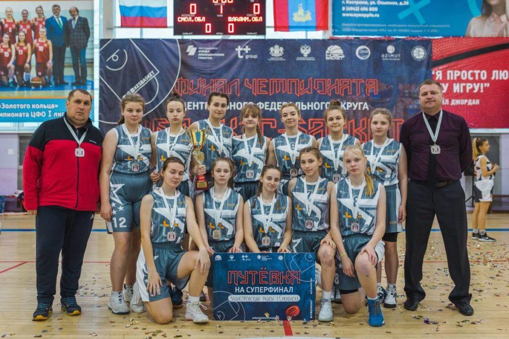 Смоленские баскетболистки вошли в пятерку сильнейших в стране