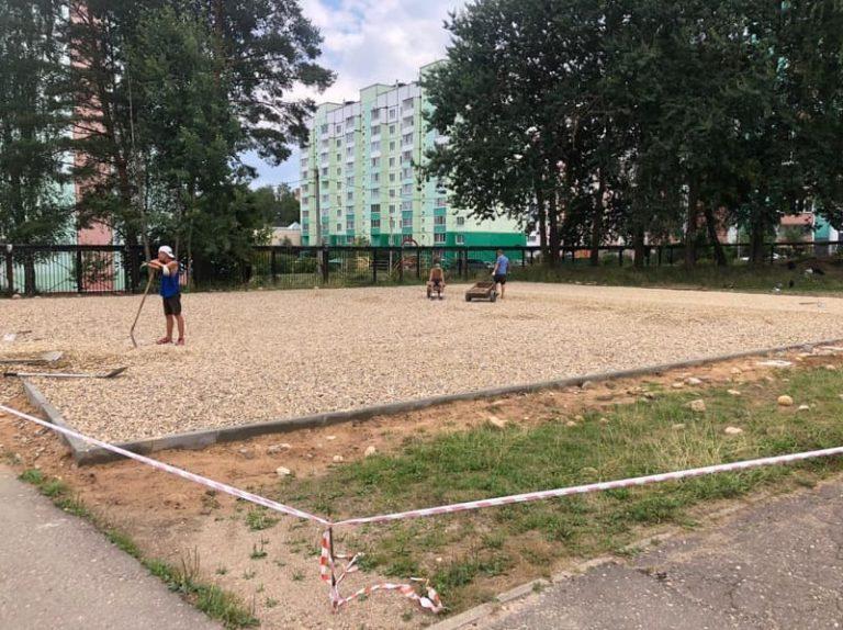 Строительство многофункциональной спортплощадки в Смоленске идет с отставанием